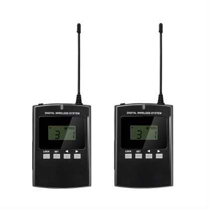 008B wireless two way headsets training tour system