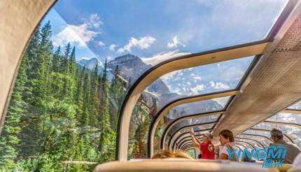 Train through Canadian Rockies
